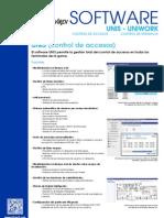 Folleto software UNIS - UNIWORK (control de accesos y control de presencia)