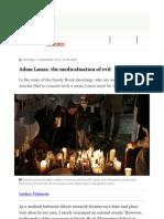 Adam Lanza Medicalisation Evil