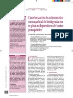 2012 - Caracterización de actinomicetos con capacidad de biodegradación en EDAR del sector petroquímico