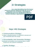 HRD Strategies