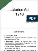 Factories Act , 1948