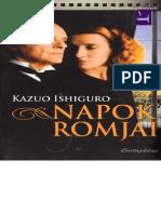 Napok Romjai - Kazuo Ishiguro.epub