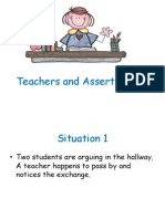 Non-Assertive Teacher, Assertive Teacher and Hostile Teacher