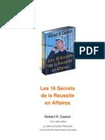 Les 16 Secrets de la Réussite en Affaires -- Herbert N. Cass