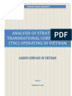 Analysis of Strategy of TNC Canon Vietnam