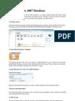 Tutorial Access 2007 Database