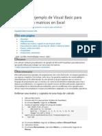 Macros de Ejemplo de Visual Basic Para Trabajar Con Matrices en Excel
