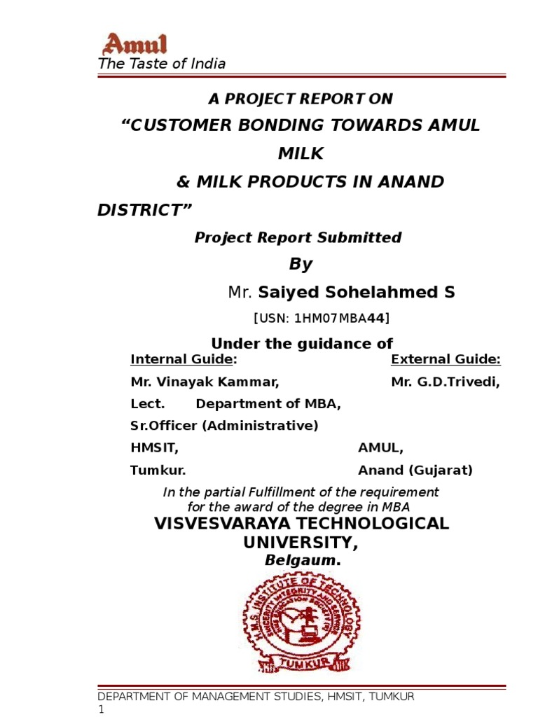 literature review of consumer behaviour and satisfaction of amul milk