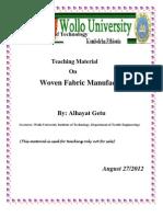 Woven Fabric -I Teaching Materials