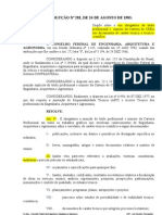 Resolução 282-83 - Uso obrigatório do título profissional e número do CREA nos documentos cietíficos