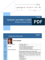 Hydraulic calculation lecture-Piping