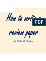 How to write a review paper - By