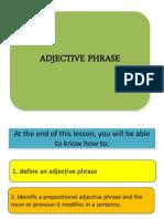 adjetcive phrase lesson