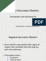 Kegawat Daruratan Obstetri - Kel D-3 Fix
