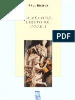 Paul Ricoeur-La Mémoire, l'histoire, l'oubli-Editions du Seuil (2000)