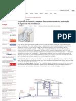 Esquema de funcionamento e dimensionamento da instalação de água fria em residências _ Fórum da Construção