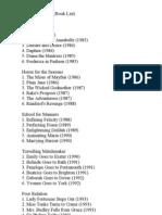 List (Marion Chesney's Books)