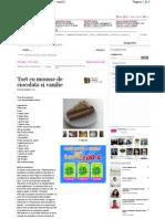 Tort Cu Mousse de Ciocolata Si Vanilie