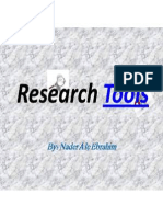 The Effective Use of Research Tools and Resources, By