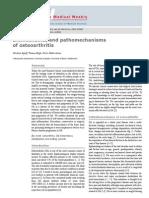 Biomechanics and Pathomechanisms Osteoarthritis