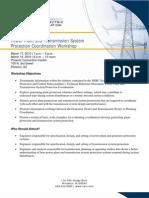Generator Protection Coordination Workshop Agenda