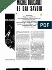 Foucault Le Gai Savoir