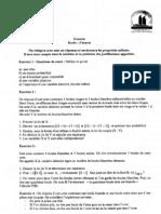 Examen L2 Probabilit 2007 1