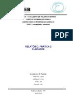 Relatório Prática - Cloretos