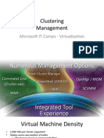 Clustering - 3 - Management