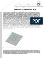 Analysis of a High Efficiency Reflector Feed Array