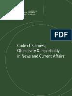 BAI Code of Fairness, Objectivity & Impartiality