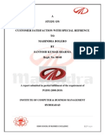 18281615 Project Report on Customer Satisfaction in MM