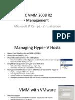 SC VMM 2008 R2 - 3 - Management