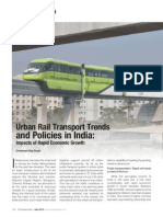 Article on 'Urban Rail Transport Trends and Policies in India' by Chaitanya Raj Goyal