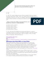 A extensão padrão para documentos de texto salvos no formato Writer
