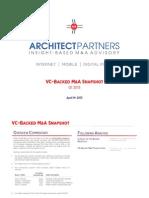 VC Backed MA Snapshot Q1 2013
