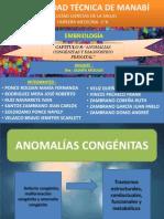 ANOMALÍAS CONGÉNITAS DEBIDO A TERATÓGENOS DURANTE EL DESARROLLO PRENATAL
