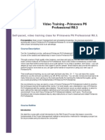 Primavera P6 Video Training Outline