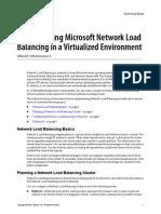 Implmenting Ms Network Load Balancing