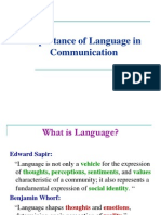 Importance of Language in Communication