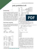 Analysing Equity Portfolios in R