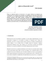 QUETGLAS, F - Qué es el Desarrollo Local