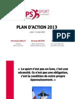 130311 - Sport PS Nord - Présentation du plan d'action 2013