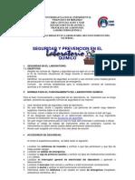Práctica Nº01 Seguridad y Prevención en el Laboratorio Químico