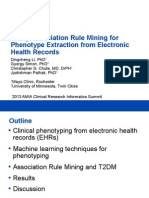 Using Association Rule Mining for Phenotype Extraction From EHRs