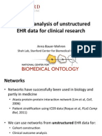 Network Analysis of Unstructured EHR Data for Clinical Research