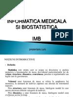 Informatica Medicala Si Biostatistica