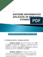 Sisteme Informatice Aplicate in Medicina Stomatologica