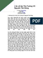 Những bí ẩn về tân Thủ Tướng VC Nguyễn Tấn Dũng