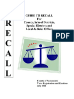 201107_Sacramento County Guide on Recalling Local Officeholders